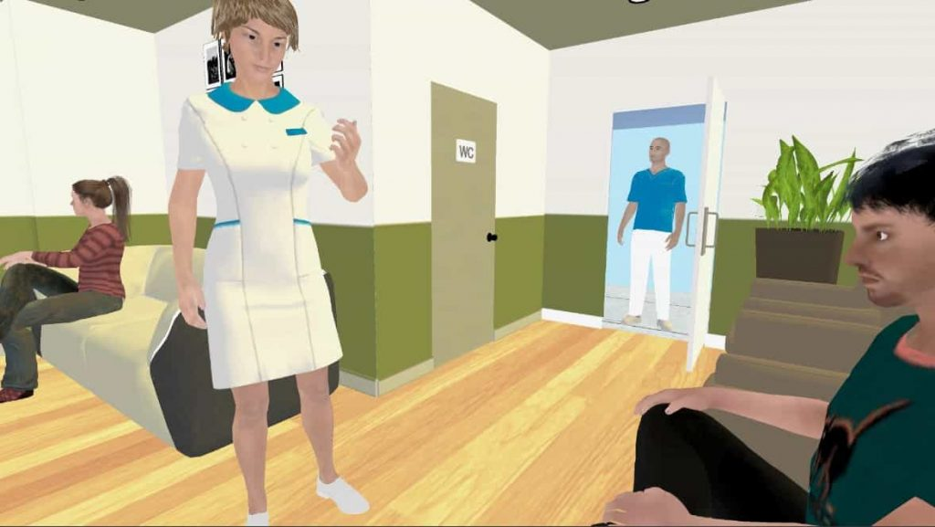 Escena visita al dentista